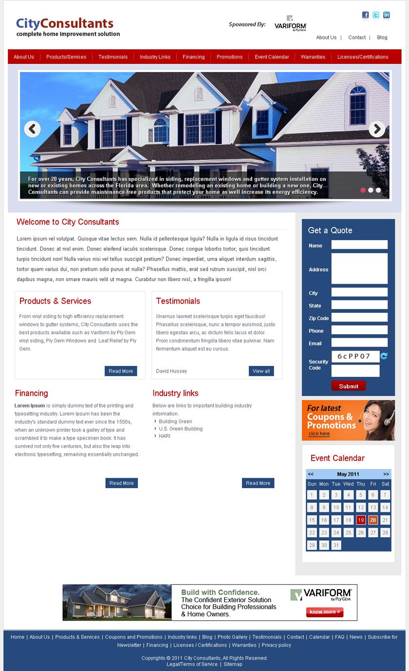 Site template - Contractors - Variform Website Builder